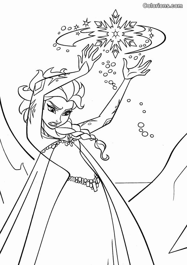 Coloriage et dessins gratuits Scène de La Reine des Neiges Film à imprimer