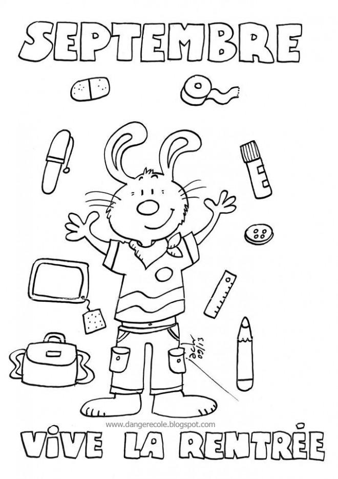 Coloriage la rentr e scolaire en septembre - Coloriage cartable maternelle ...