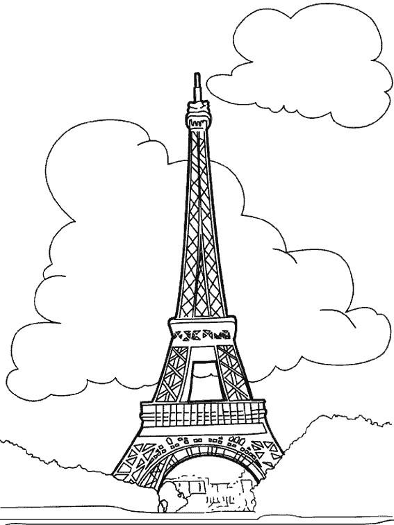Coloriage La Tour Eiffel Dessin Gratuit A Imprimer