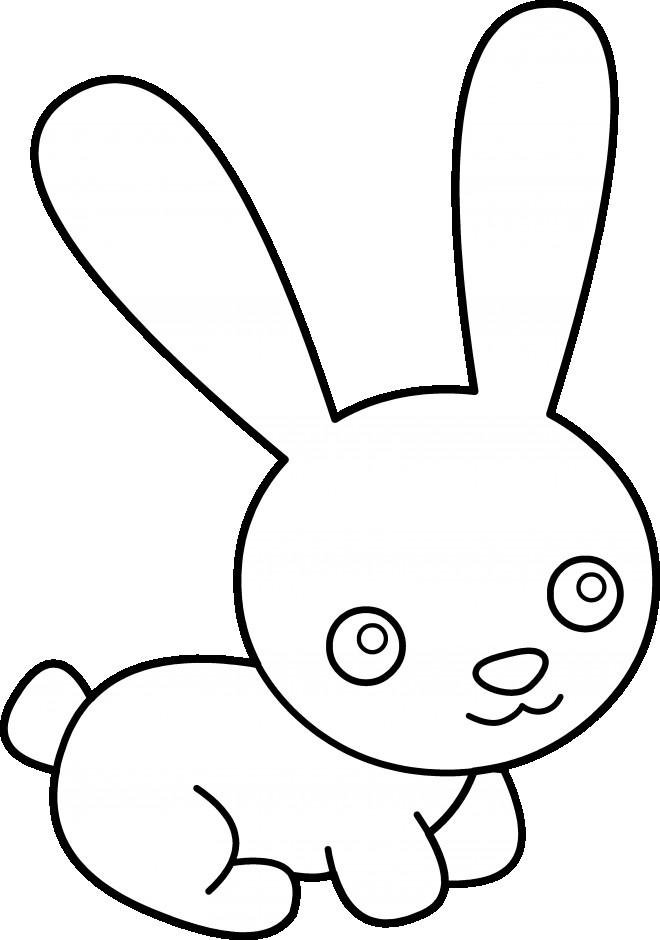 Coloriage lapin mignon 32 dessin gratuit imprimer - Dessin lapin mignon ...