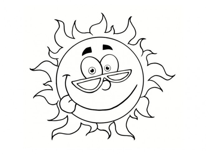 Coloriage le soleil avec visage dessin gratuit imprimer - Dessin de lune et soleil ...