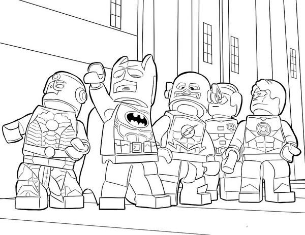 Coloriage Batman Lego City Dessin Gratuit à Imprimer