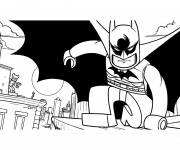 Coloriage Lego Batman en noir