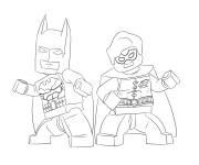 Coloriage et dessins gratuit Lego Batman en noir et blanc à imprimer