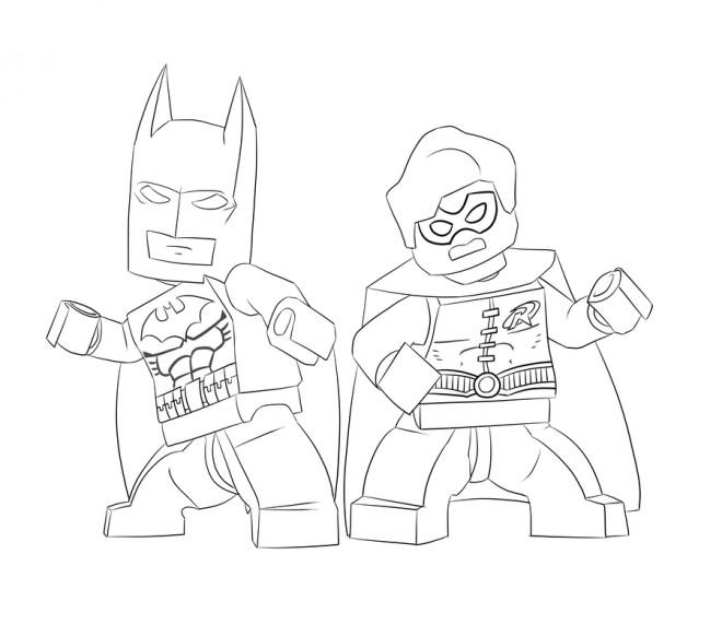 Coloriage Lego Batman En Noir Et Blanc Dessin Gratuit A Imprimer