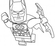 Coloriage Lego Batman en vol