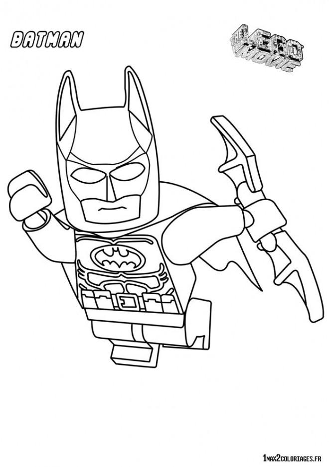 Coloriage et dessins gratuits Lego Batman en vol à imprimer
