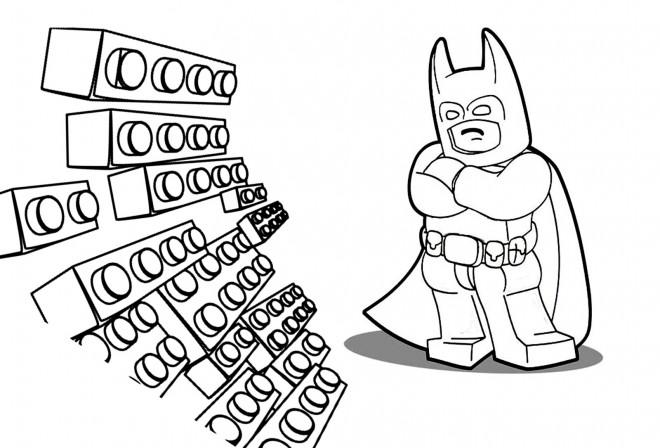 Coloriage et dessins gratuits Lego Batman maternelle à imprimer