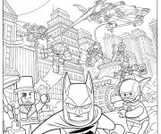 Coloriage et dessins gratuit Lego Batman movie à imprimer