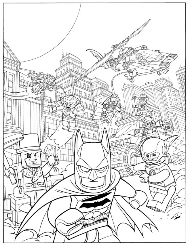 Coloriage Lego Batman Movie Dessin Gratuit A Imprimer