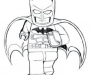 Coloriage Lego Batman qui court