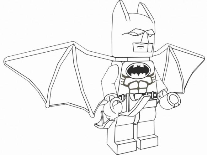 Coloriage et dessins gratuits Lego Batman stylisé à imprimer
