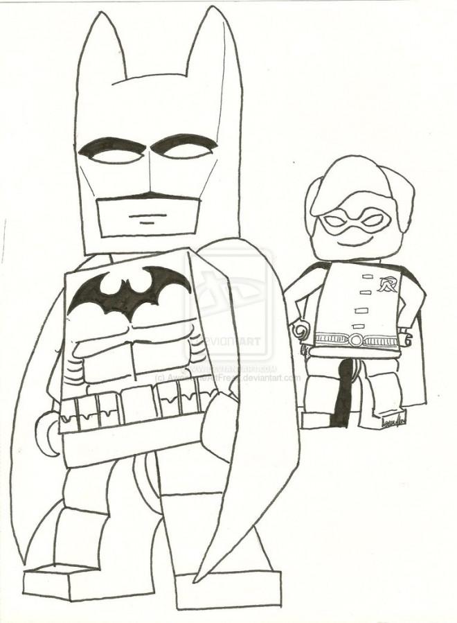Coloriage Lego Batman Super Hero Dessin Gratuit A Imprimer