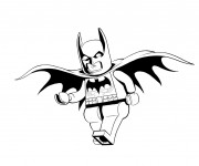 Coloriage Lego Batman vecteur