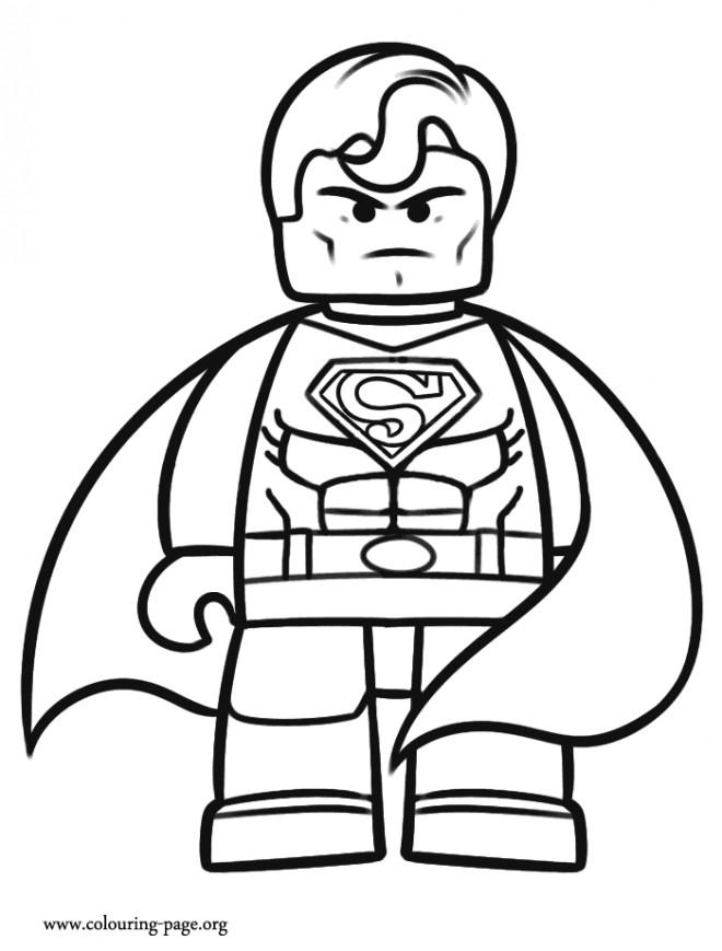 Coloriage et dessins gratuits Lego Super Man à imprimer