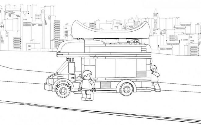 Coloriage Camion Lego.Coloriage Camion Dans La Ville Lego Dessin Gratuit A Imprimer