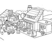 Coloriage La Vie de Lego City