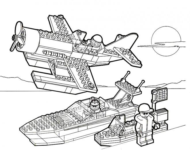 Coloriage et dessins gratuits Lego Armée à imprimer