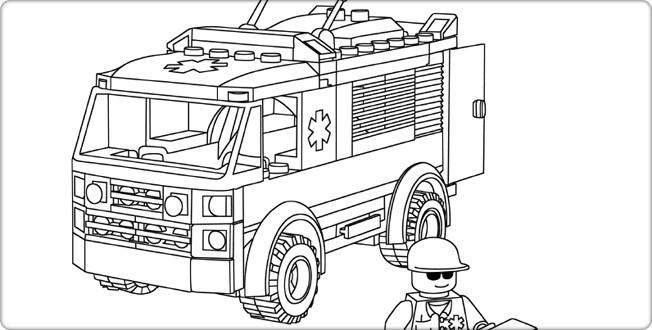 Coloriage lego city ambulance dessin gratuit imprimer - Dessin de lego city ...