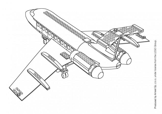Coloriage Avion Lego City.Coloriage Lego City Avion Dessin Gratuit A Imprimer