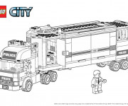 Coloriage et dessins gratuit Lego City Camion de Police à imprimer