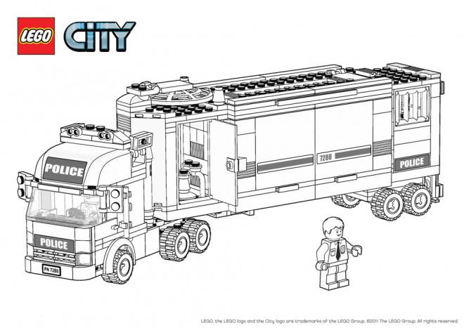 Coloriage lego city camion de police dessin gratuit imprimer - Lego city a colorier ...