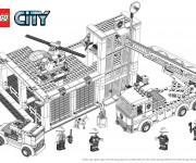 Coloriage Lego City Construction de Bâtiment