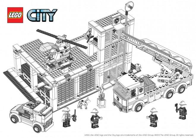 Coloriage lego city construction de b timent - Lego city a colorier ...