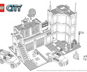 Coloriage Lego City Département de Police