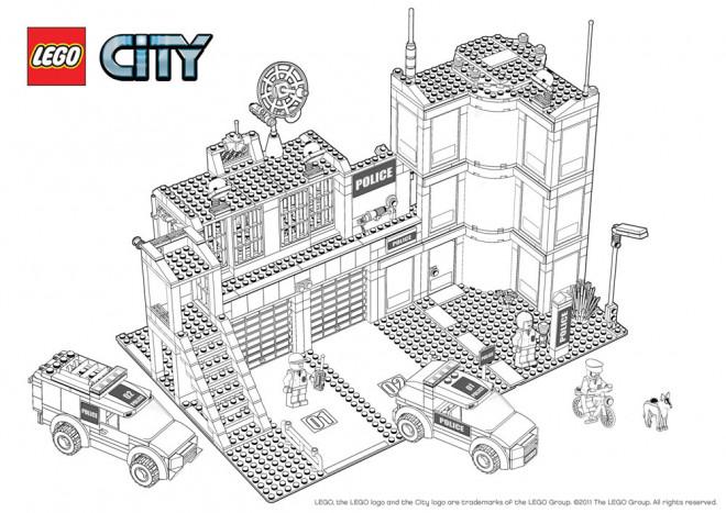 Coloriage et dessins gratuits Lego City Département de Police à imprimer