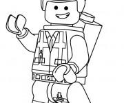 Coloriage Lego City Emmet