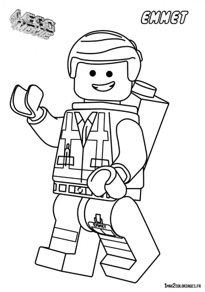 Coloriage lego city emmet dessin gratuit imprimer - Lego city a colorier ...