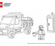 Coloriage Lego City facile