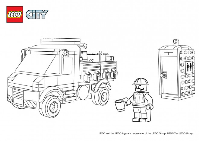 Coloriage lego city facile dessin gratuit imprimer - Dessin de lego city ...