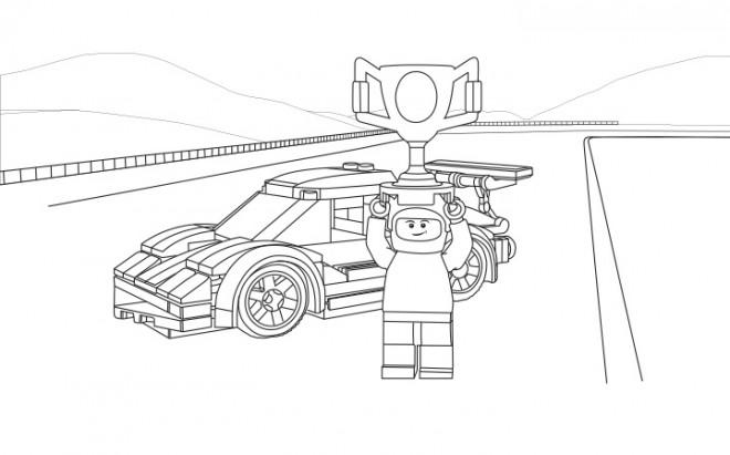 Coloriage et dessins gratuits Lego City Gagnant de Course à imprimer