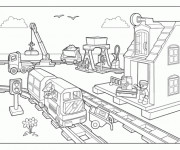 Coloriage Lego City Gare de Train