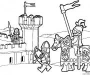 Coloriage et dessins gratuit Lego City Guerre médiéval à imprimer