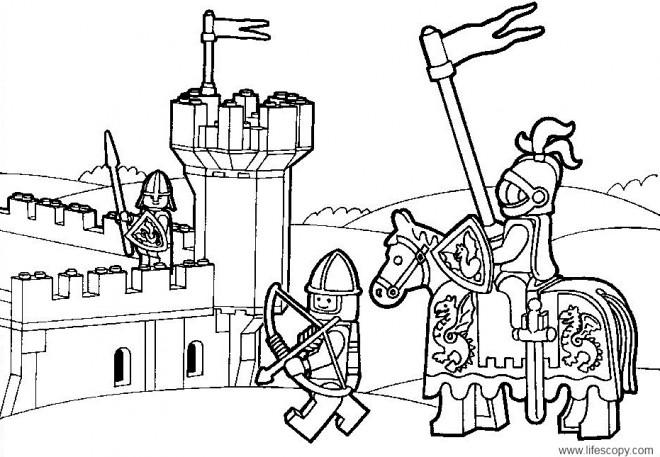 Coloriage et dessins gratuits Lego City Guerre médiéval à imprimer