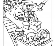 Coloriage et dessins gratuit Lego City Indiana Jones à imprimer