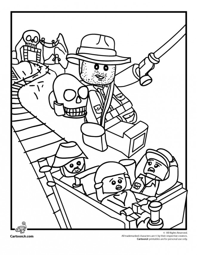 Coloriage et dessins gratuits Lego City Indiana Jones à imprimer