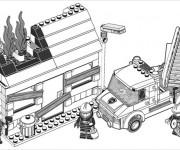 Coloriage Lego City Les Pompiers à colorier