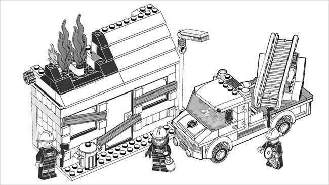 Coloriage et dessins gratuits Lego City Les Pompiers à colorier à imprimer