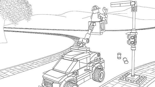 Coloriage lego city maternelle dessin gratuit imprimer - Coloriage de lego city ...