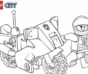 Coloriage Lego City Moto de Police en couleur