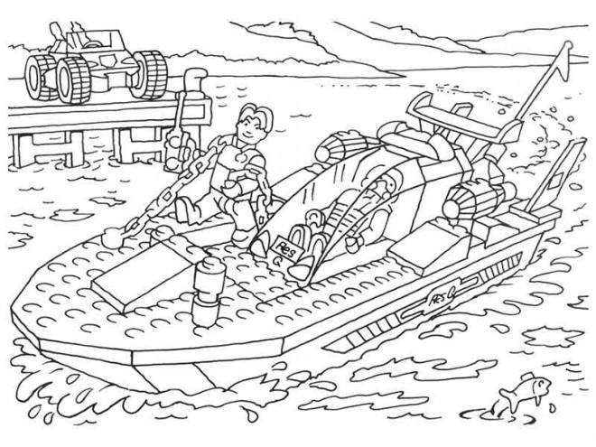 Coloriage lego city navire rapide dessin gratuit imprimer - Lego city a colorier ...