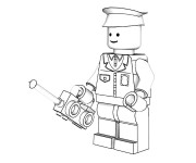 Coloriage et dessins gratuit Lego City Officier de Police à imprimer