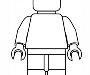 Coloriage Lego City Personnage simple