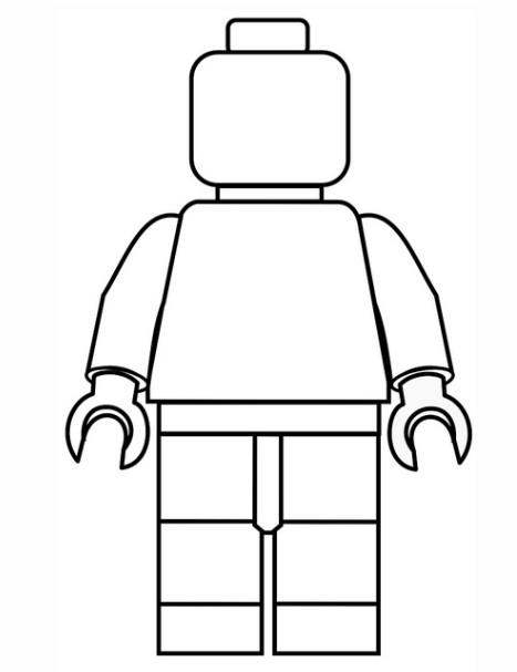 Coloriage lego city personnage simple dessin gratuit - Dessin de lego city ...
