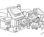 Coloriage Lego City Personnages