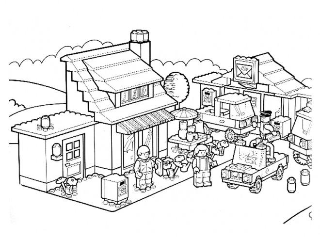 Coloriage Avion Lego City.Coloriage Lego City Personnages Dessin Gratuit A Imprimer